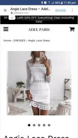 white lace dress. brand new, never worn. size 6 or 8