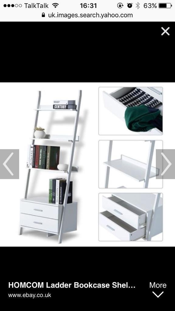 3 x Homcom ladder shelves