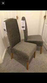 2x Next dining chairs, brand new with tags,.