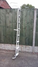 8 rung roof ladder for campervan good codition in white