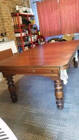 Dual Height Snooker/Dining Table. The Instanter - In great condition with 4 heavy turned legs