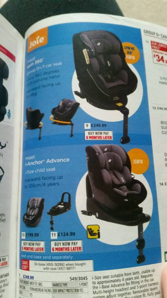 Joie anchor carseat