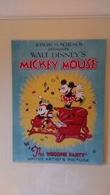 Classic vintage style Mickey & Minnie Mouse Large Canvas