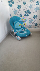 CHICCO BALLOON BABY BOUNCER SEAT BLUE FREE UK P & P - BOXED & MANUAL