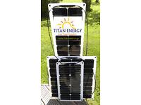 Titan-Energy UK 50W Flexible Solar Panel for boats, caravans, motorhomes...