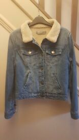 Unisex Denim Jacket with Faux sheep lining