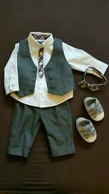 Baby boy smart clothes christmas 3-6 months