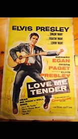 Elvis Presley Rare Original movie poster Love Me Tender, Beautiful large poster