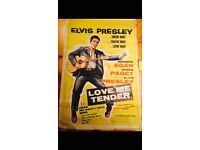 Elvis Presley Rare Original movie poster Love Me Tender, Beautiful large poster