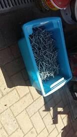 "4"" (100mm) galvanised nails"