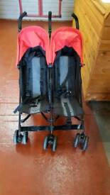 Obaby double buggy w/ accessories