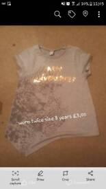 Girls grey top worn twice 8 years