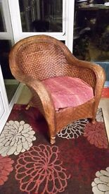 Large Wicker Arm Chair
