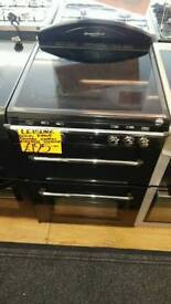 LEISURE 60CM ELECTRIC DOUBLE OVEN COOKER IN BLACK