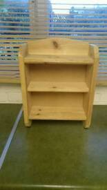 Small pine shelf unit