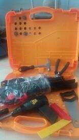 Toy JCB Workbench and Tools