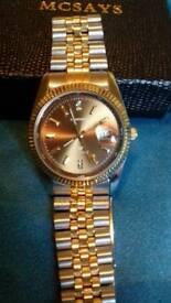 Sekonda gold and silver men's watch