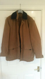 "Light tan winter coat (fits chest 38"" - 40"") by Brook- Taverner"
