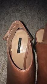 New forever 21 size 5 block heels