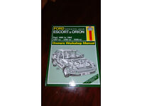 Haynes Car Manual FORD ESCORT & ORION 1990 to 1992