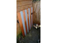 Pretty home made heart stripe cottage garden gate