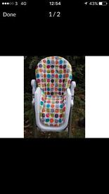 High chair. Excellent condition.