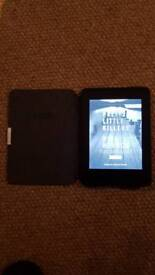 Kindle paperlite with leathercase