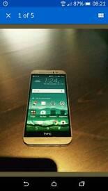 HTC M9 in Amber gold