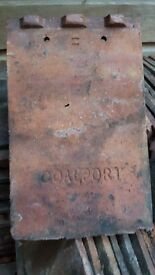 Coalport clay roofing tiles