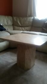 marble table cream perfect condition