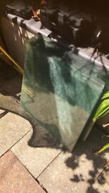 Greenhouse glass used