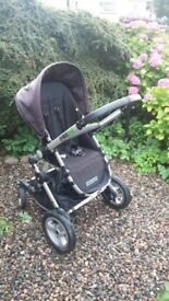 Black G&G 42 stroller buggy pushchair pram suitable from 6 months