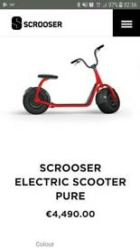 Electric road legal scooter
