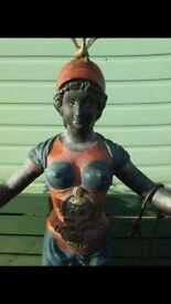 large broze goddess double lantern