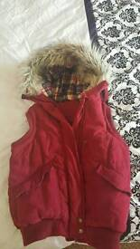 Red Body Warmer & Pink Coat