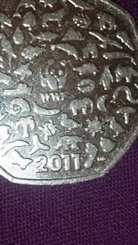 Rare 50 pence collectible