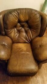 Recline armchair