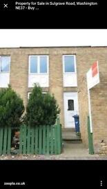 3 BEDROOM HOUSE FOR SALE SULGRAVE RD IN WASHINGTON TYNE AND WEAR BUY THIS HOUSE FOR £5,000