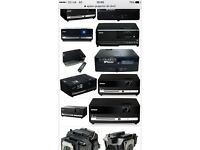 Epson Dm3 projector with built in DVDs plus speakers
