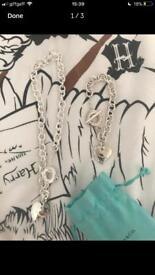 Lovely Tiffany and co necklace and bracelet set