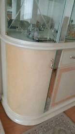 Italian Glass Mirror Design Wine Display Cabinet Cupboard