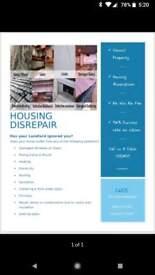 Council house dis repair claims