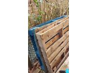 Wooden Pallets X2 and Wooden Planks X2