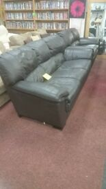 Dark Brown Leather Suite (3+2 seater)