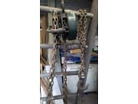 Block and Tackle Chain Pulley Hoist Made in England