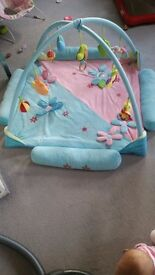 Playmat blue-pink. Big one and very softy. With Toys extra.