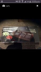 Partion serving tray