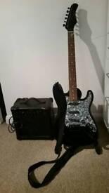 Venom Electric guitar and Ion 15 watt amp