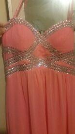 Quiz dress peach