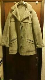 New Ladies grey 3/4 Suede Coat